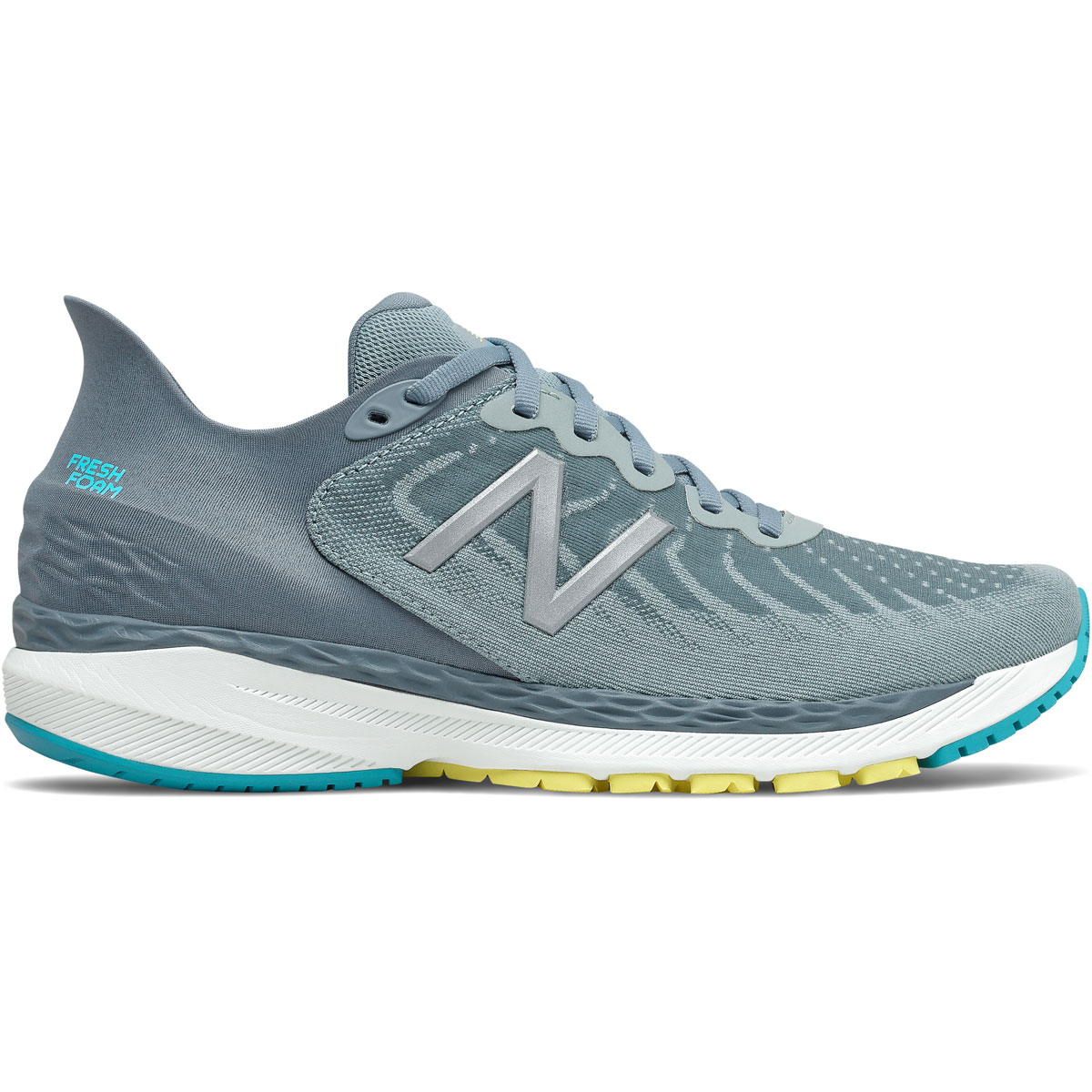 Men's New Balance 860V11 Running Shoe - Color: Ocean Grey  - Size: 6 - Width: Wide, Ocean Grey, large, image 1
