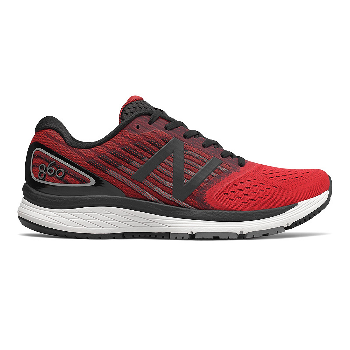 Men's New Balance 860V9 Running Shoe - Color: Team Red - Size: 7 - Width: Wide, Team Red, large, image 1