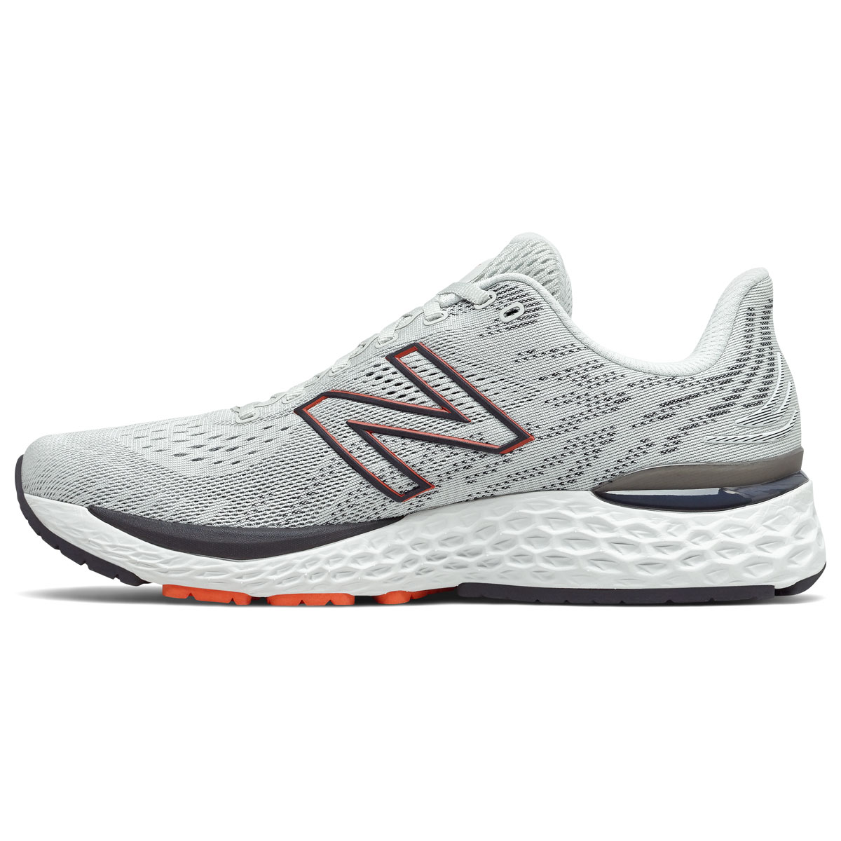 Men's New Balance Fresh Foam 880v11 Running Shoe - Color: Arrowroot/Ghost Pepper - Size: 7 - Width: Wide, Arrowroot/Ghost Pepper, large, image 2