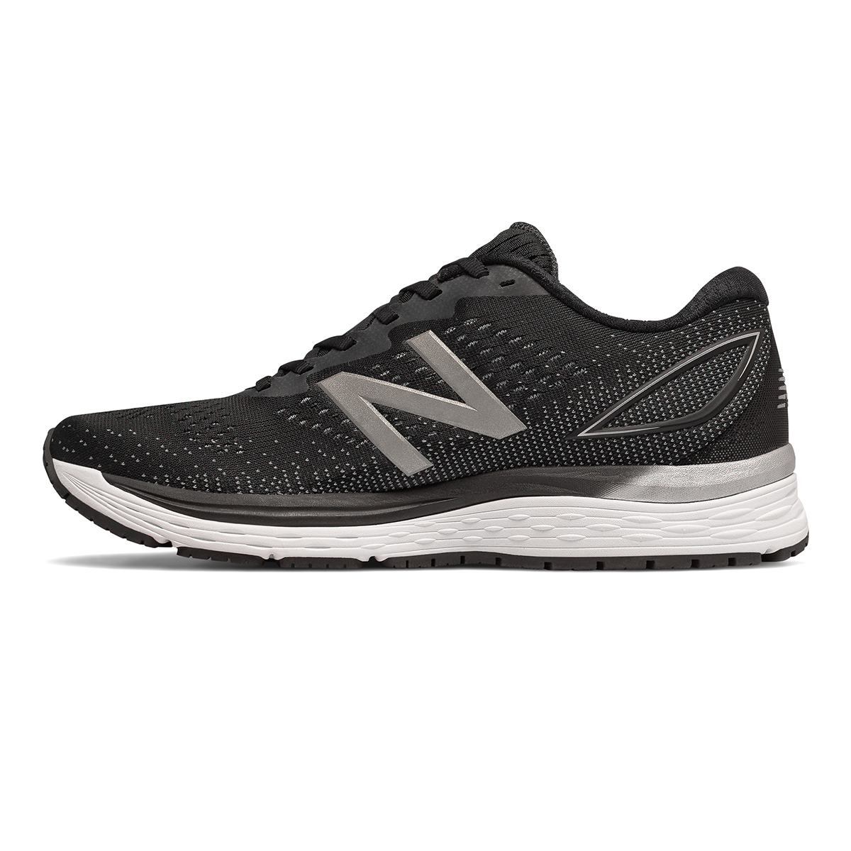 Men's New Balance 880V9 Running Shoe - Color: Black / Steel (Regular Width) - Size: 8, Black / Steel, large, image 2