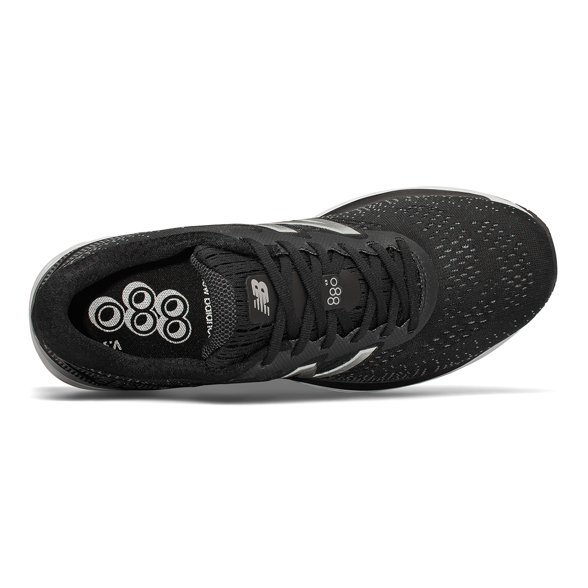 Men's New Balance 880V9 Running Shoe - Color: Black / Steel (Regular Width) - Size: 8, Black / Steel, large, image 4