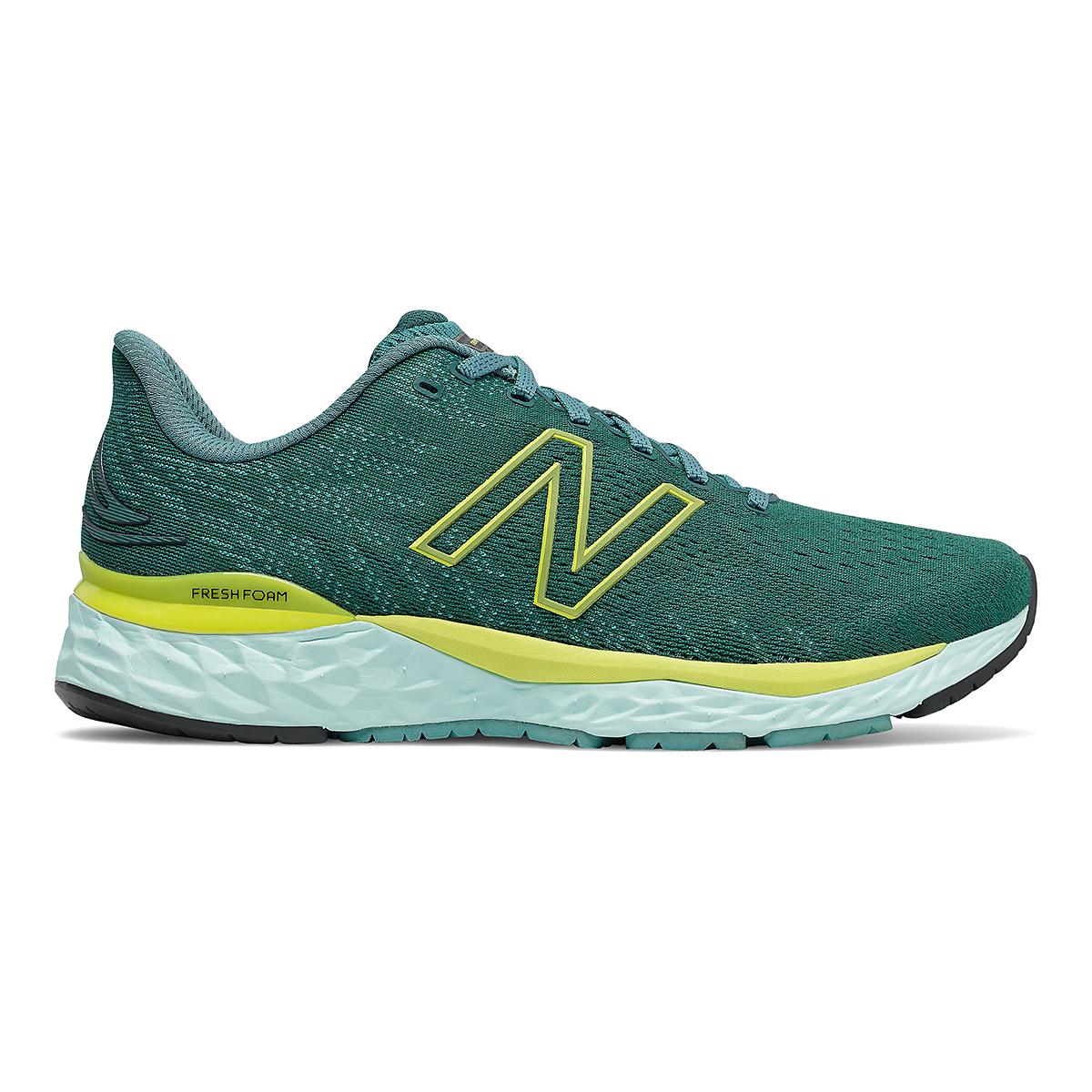 Men's New Balance Fresh Foam 880v11 Running Shoe - Color: Trek/Sulpher Yellow - Size: 7 - Width: Wide, Trek/Sulpher Yellow, large, image 1