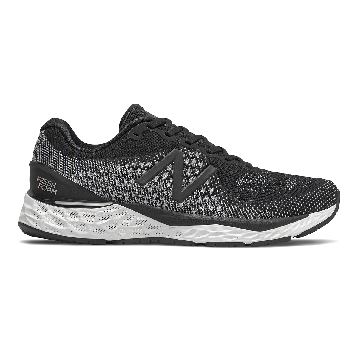 Men's New Balance 880v10 Running Shoe - Color: Black / White   (Regular Width) - Size: 10.5, Black / White, large, image 1
