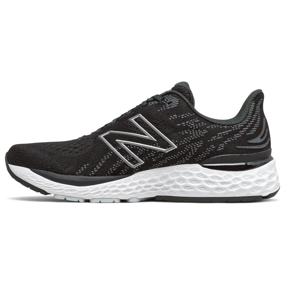 Men's New Balance Fresh Foam 880v11 Running Shoe - Color: Black/Cyclone - Size: 6 - Width: Wide, Black/Cyclone, large, image 2