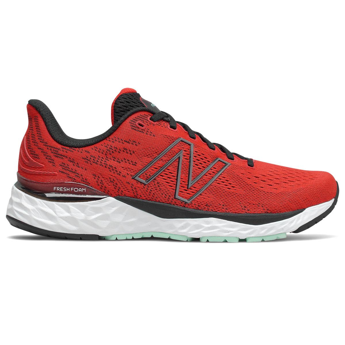 Men's New Balance Fresh Foam 880v11 Running Shoe - Color: Velocity Red/Black - Size: 8 - Width: Wide, Velocity Red/Black, large, image 1