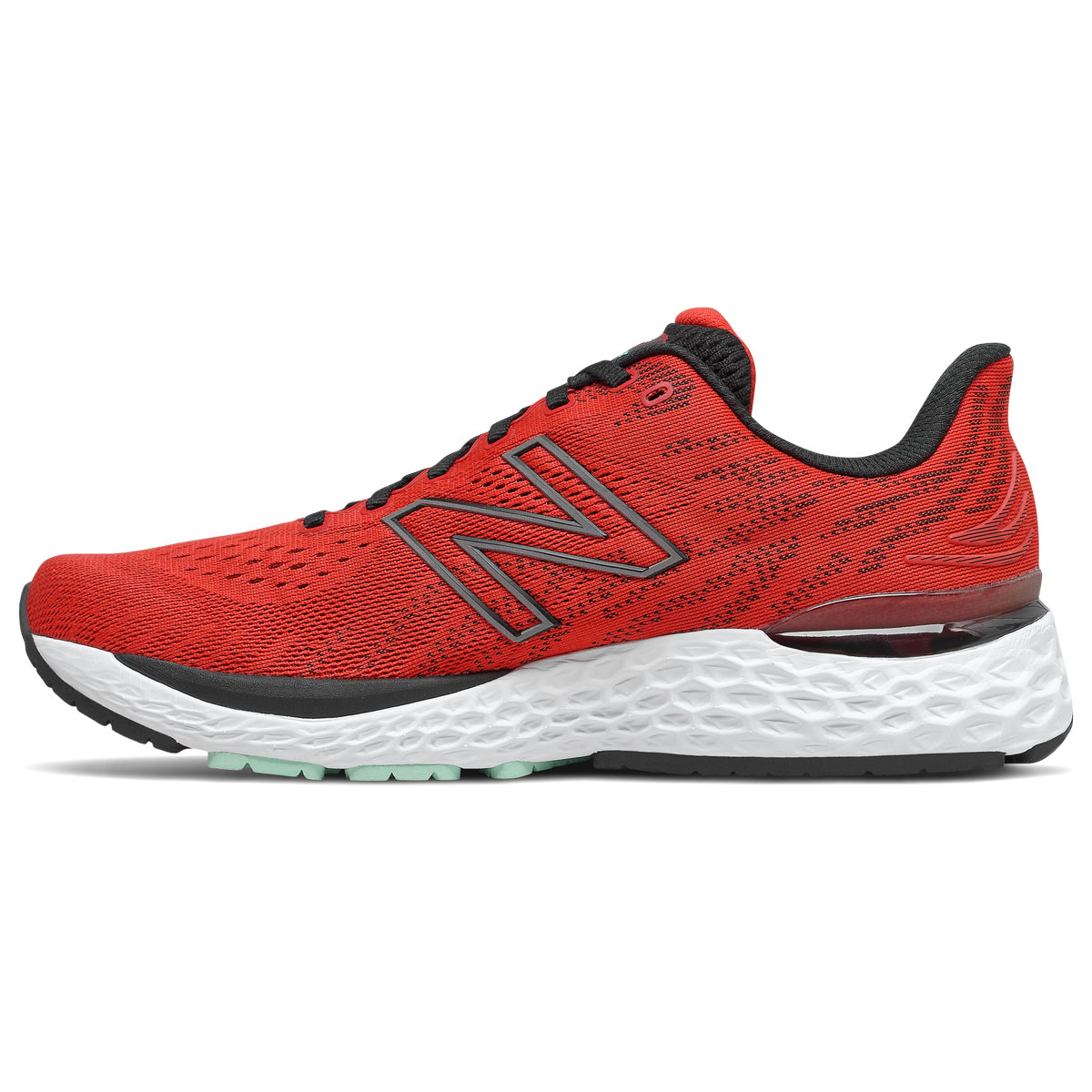 Men's New Balance Fresh Foam 880v11 Running Shoe - Color: Velocity Red/Black - Size: 8 - Width: Wide, Velocity Red/Black, large, image 2