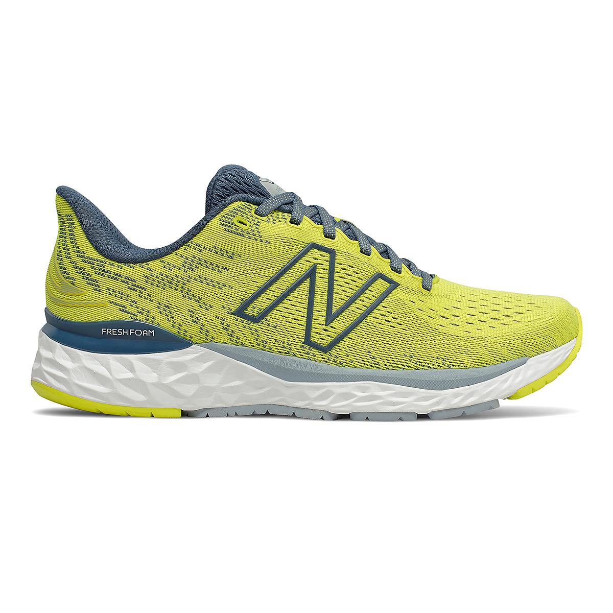 Men's New Balance Fresh Foam 880v11 Running Shoe - Color: Sulphur Yellow/Deep Ocean Grey - Size: 7 - Width: Wide, Sulphur Yellow/Deep Ocean Grey, large, image 1