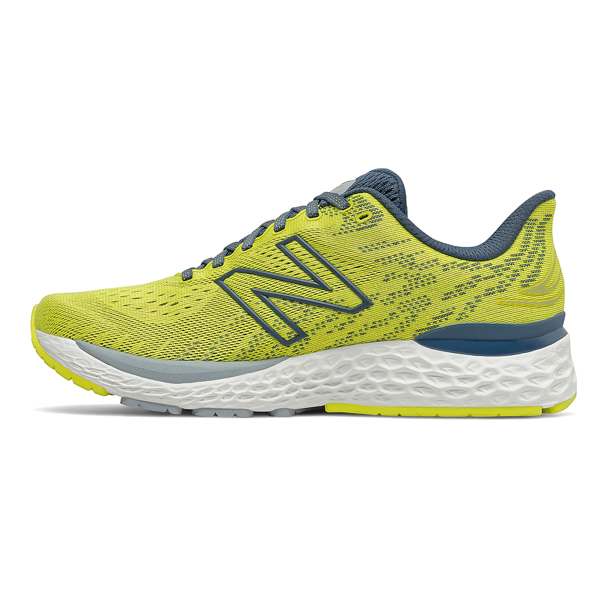 Men's New Balance Fresh Foam 880v11 Running Shoe - Color: Sulphur Yellow/Deep Ocean Grey - Size: 7 - Width: Wide, Sulphur Yellow/Deep Ocean Grey, large, image 2