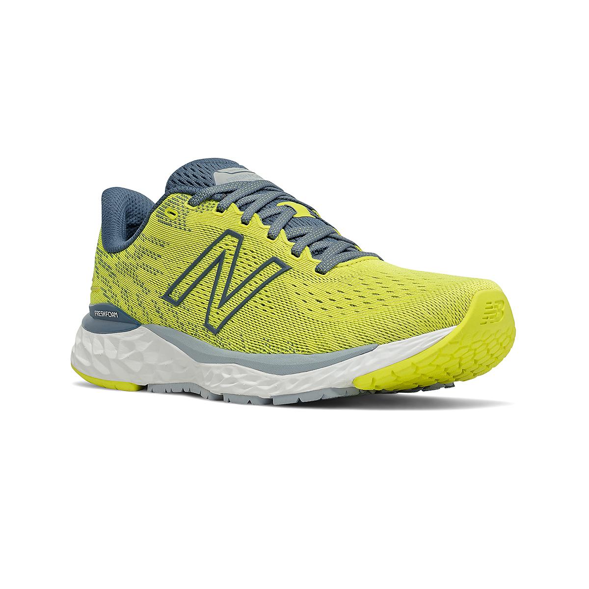 Men's New Balance Fresh Foam 880v11 Running Shoe - Color: Sulphur Yellow/Deep Ocean Grey - Size: 7 - Width: Wide, Sulphur Yellow/Deep Ocean Grey, large, image 3