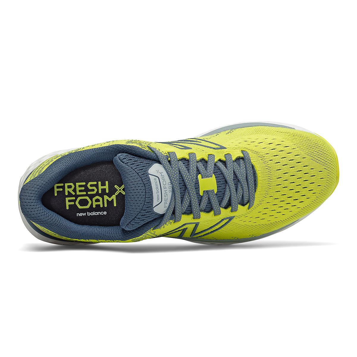 Men's New Balance Fresh Foam 880v11 Running Shoe - Color: Sulphur Yellow/Deep Ocean Grey - Size: 7 - Width: Wide, Sulphur Yellow/Deep Ocean Grey, large, image 4