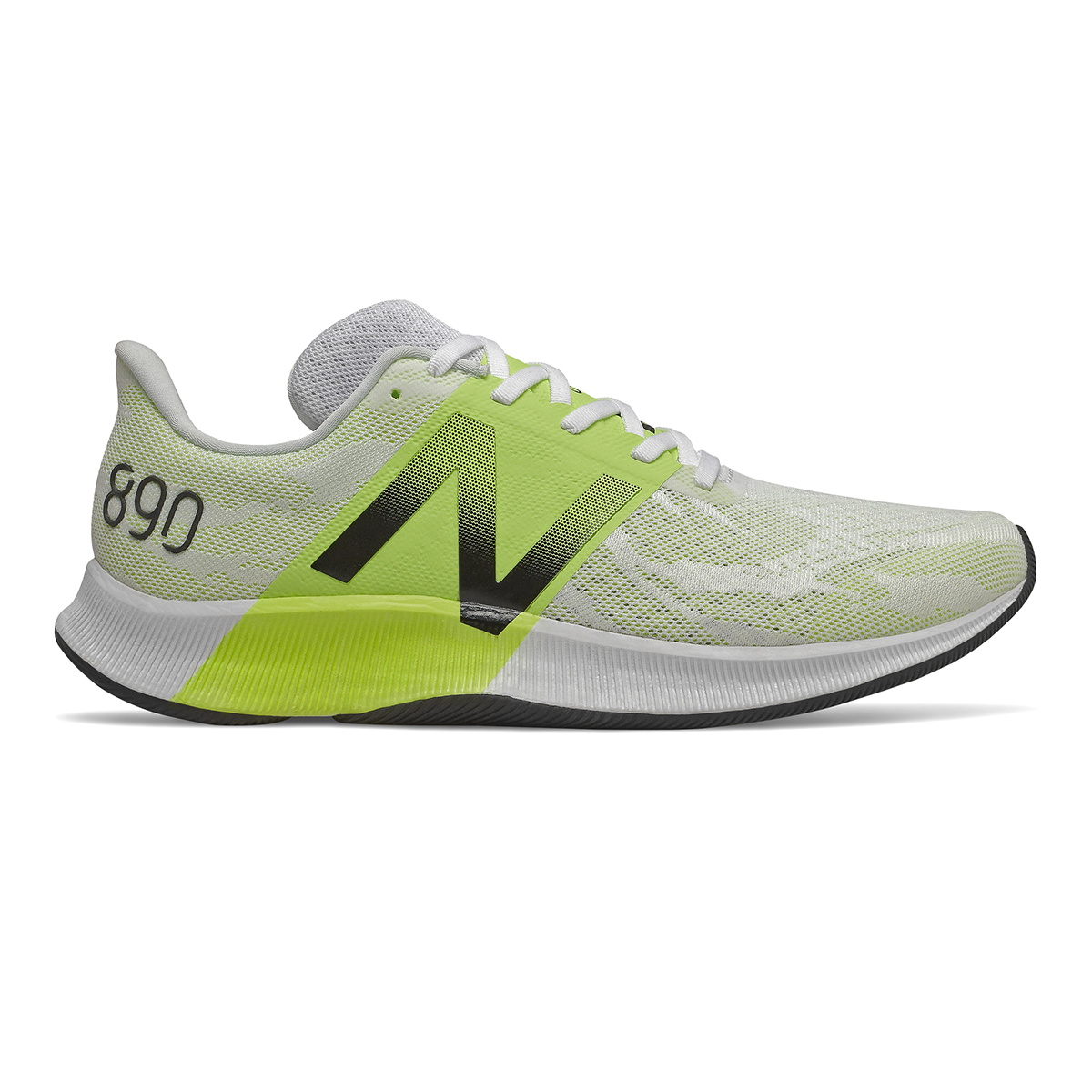 Men's New Balance 890V8 Running Shoe - Color: White (Wide Width) - Size: 7, White, large, image 1
