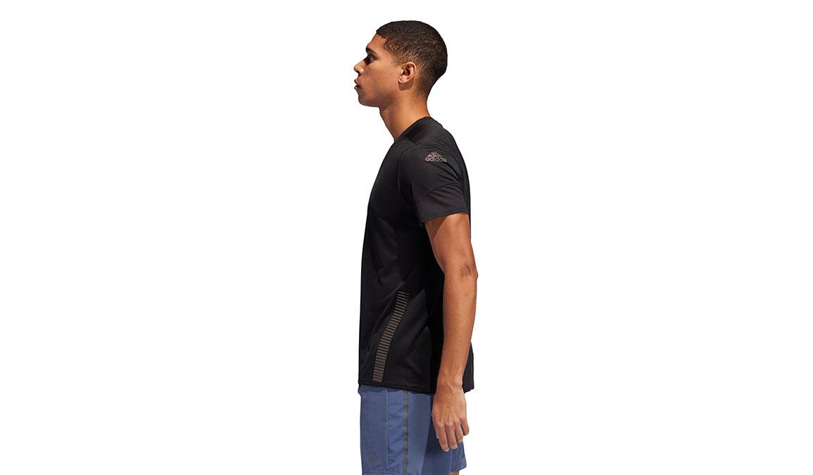 Men's Adidas 25/7 Rise Up N Run Parley Tee - Color: Black Size: L, Black, large, image 2