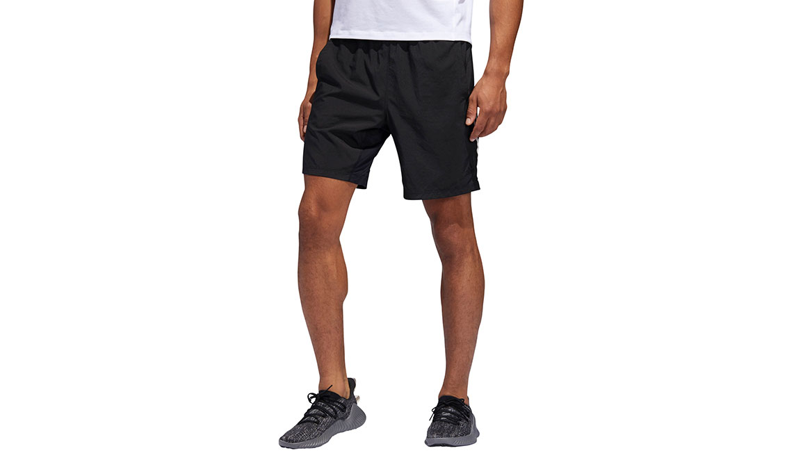 "Men's Adidas 4KRFT Tech Woven 8"" Shorts - Color: Black/White Size: M, Black/White, large, image 1"