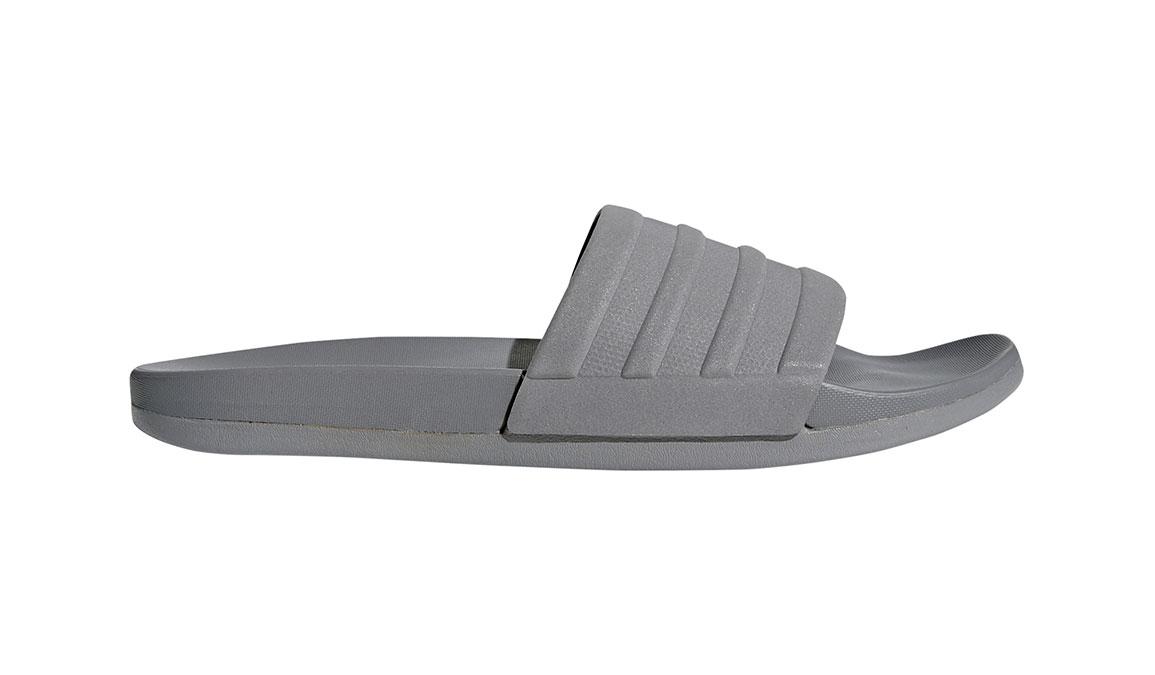 Men's Adidas Adilette Cloudfoam Plus Mono Slides - Color: Grey/Grey (Regular Width) - Size: 18, Grey, large, image 1