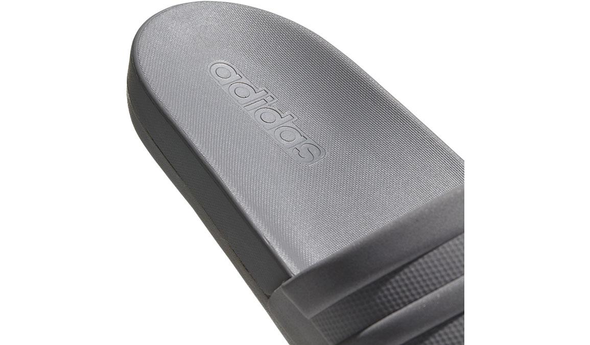 Men's Adidas Adilette Cloudfoam Plus Mono Slides - Color: Grey/Grey (Regular Width) - Size: 18, Grey, large, image 3