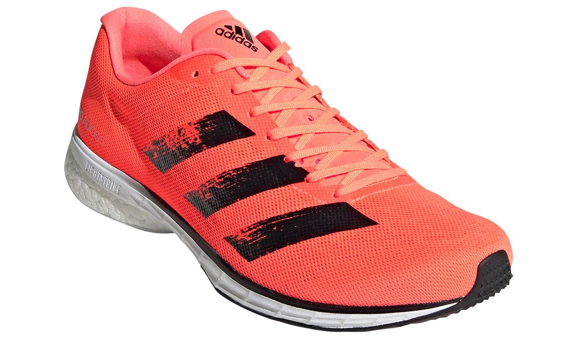 Men's Adidas Adizero Adios 5 Running Shoe - Color: Signal Coral/Core Black (Regular Width) - Size: 9, Coral, large, image 3
