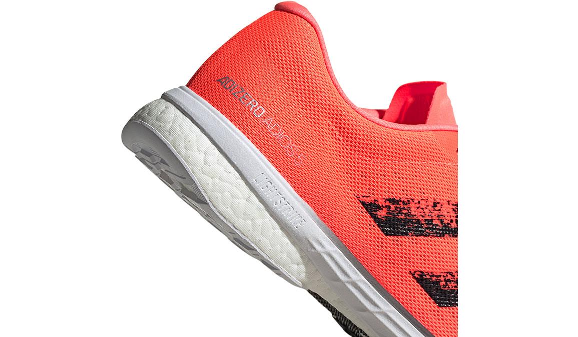 Men's Adidas Adizero Adios 5 Running Shoe - Color: Signal Coral/Core Black (Regular Width) - Size: 9, Coral, large, image 4