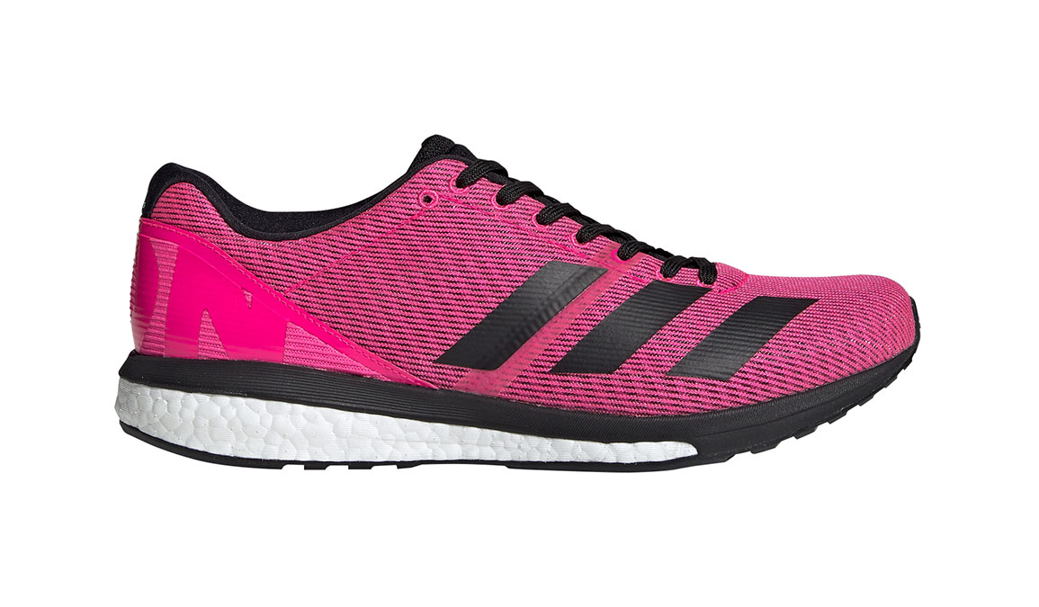 Men's Adidas Adizero Boston 8 Running Shoe - Color: Shock Pink/Core Black (Regular Width) - Size: 7.5, Pink/Black, large, image 1