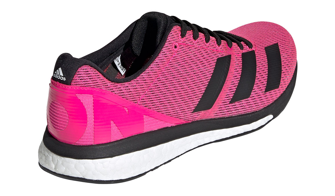 Men's Adidas Adizero Boston 8 Running Shoe - Color: Shock Pink/Core Black (Regular Width) - Size: 7.5, Pink/Black, large, image 4
