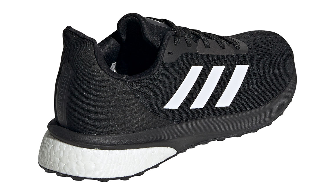 Men's Adidas Astrarun Running Shoe - Color: Core Black/Cloud White (Regular Width) - Size: 6.5, Black/White, large, image 3
