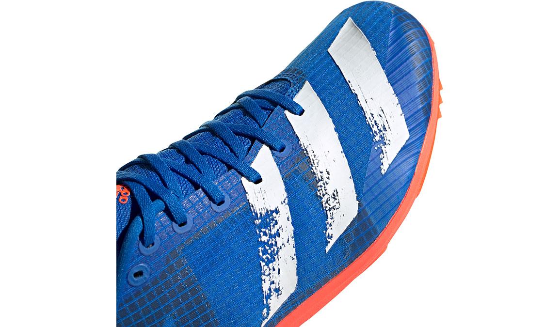 Men's Adidas Distancestar Track Spikes - Color: Glory Blue/Core White (Regular Width) - Size: 8.5, Blue/White, large, image 4