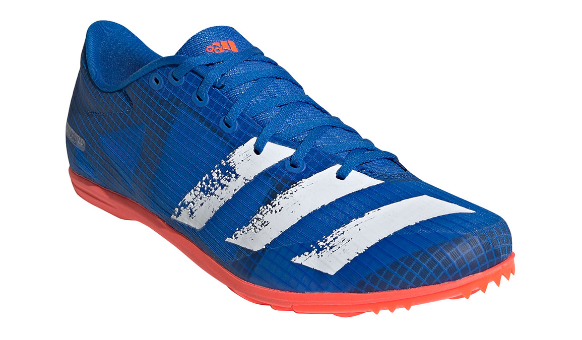 Men's Adidas Distancestar Track Spikes - Color: Glory Blue/Core White (Regular Width) - Size: 8.5, Blue/White, large, image 5