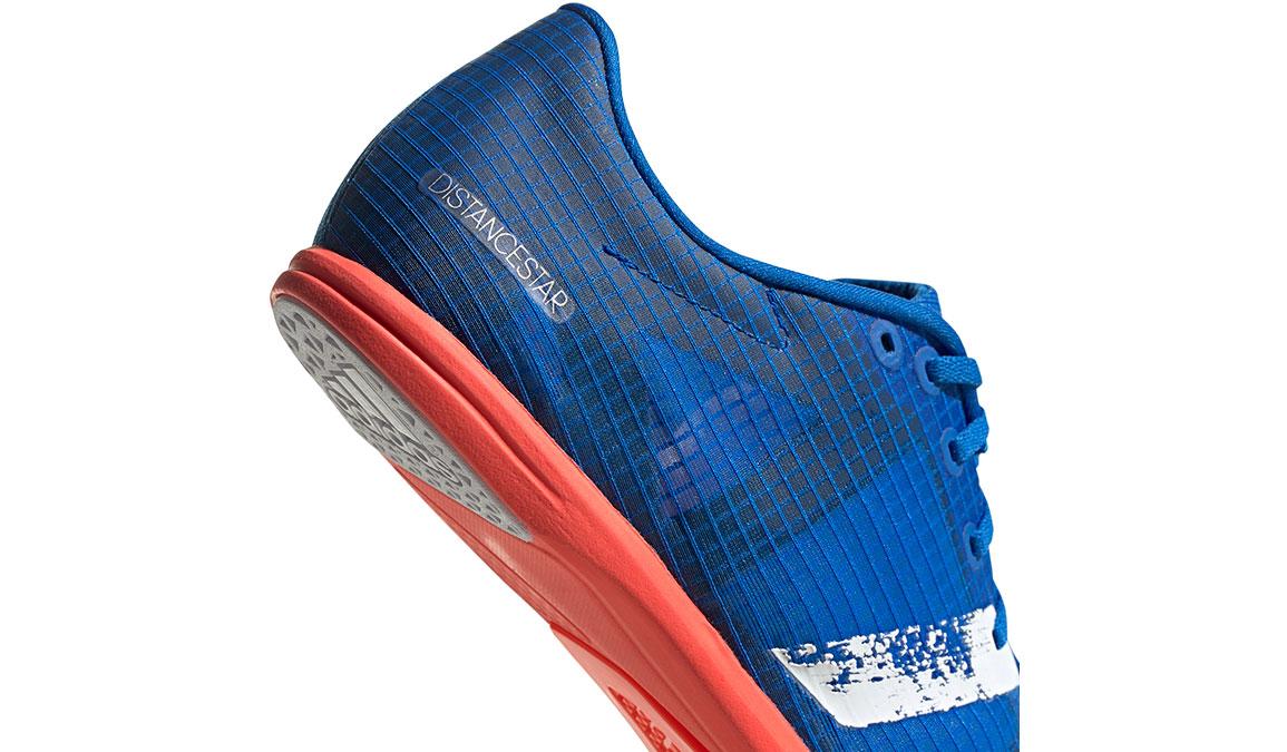 Men's Adidas Distancestar Track Spikes - Color: Glory Blue/Core White (Regular Width) - Size: 8.5, Blue/White, large, image 6
