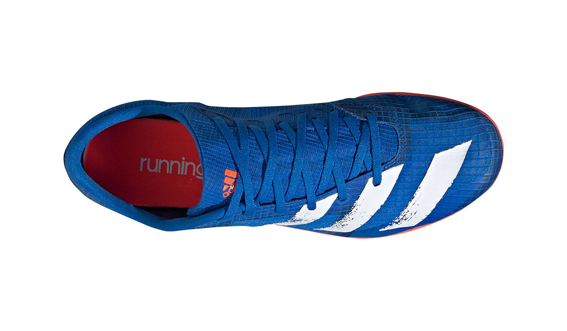 Men's Adidas Distancestar Track Spikes - Color: Glory Blue/Core White (Regular Width) - Size: 8.5, Blue/White, large, image 7