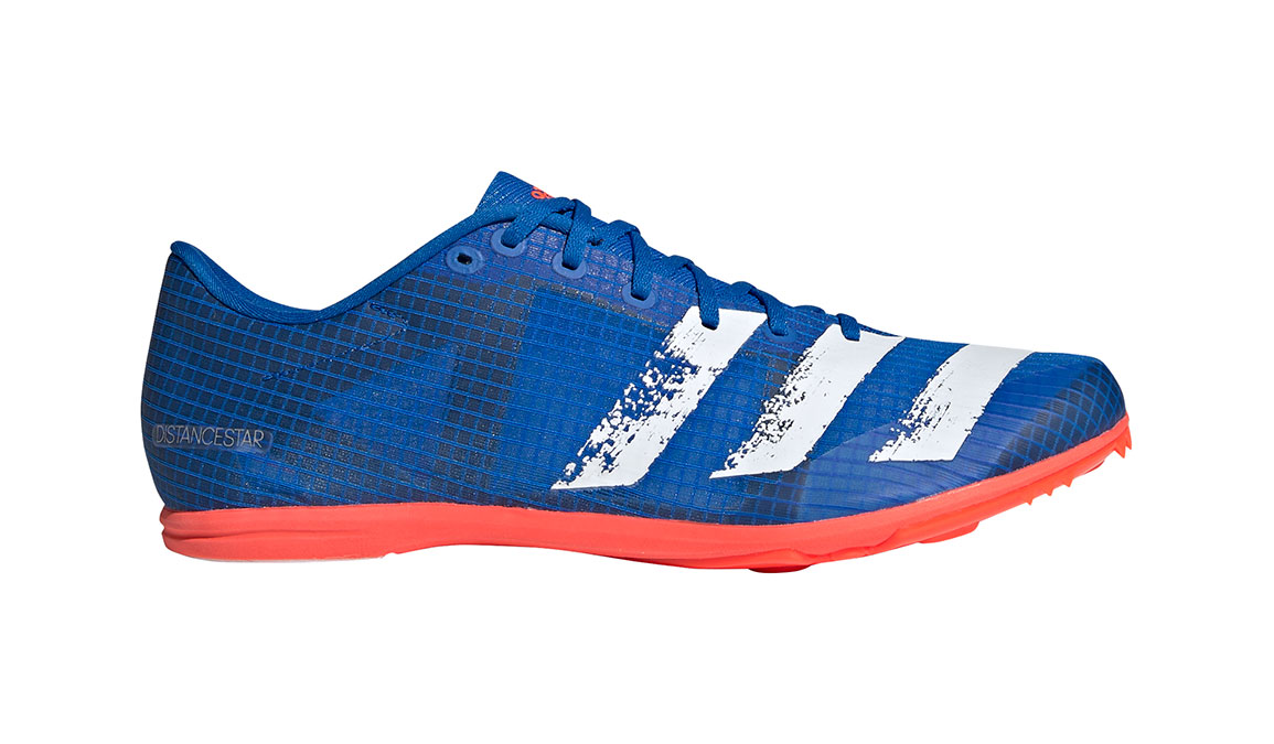 Men's Adidas Distancestar Track Spikes - Color: Glory Blue/Core White (Regular Width) - Size: 8.5, Blue/White, large, image 1
