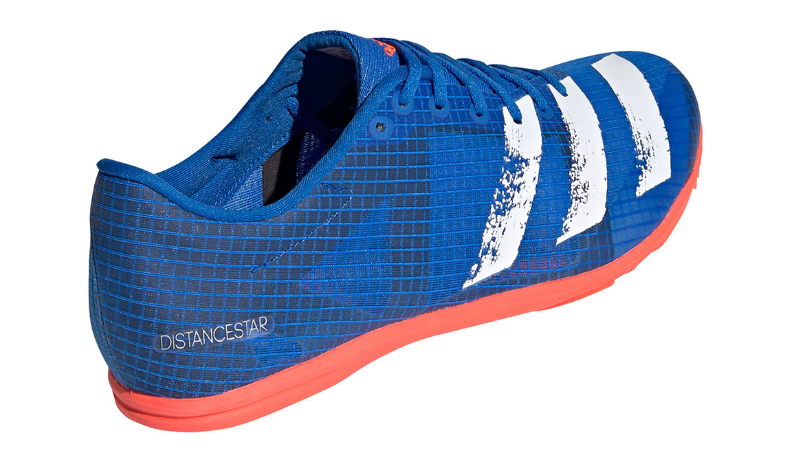 Men's Adidas Distancestar Track Spikes - Color: Glory Blue/Core White (Regular Width) - Size: 8.5, Blue/White, large, image 3