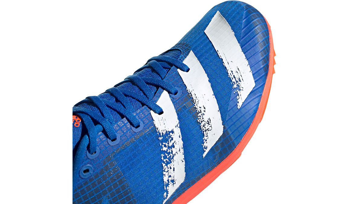 Men's Adidas Distancestar Track Spikes - Color: Glory Blue/Core White (Regular Width) - Size: 8.5, Blue/White, large, image 4