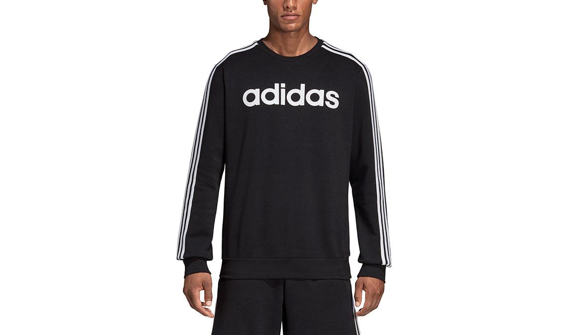 adidas Essentials 3Stripe Crew Neck Sweatshirt Mens XXL Black//White