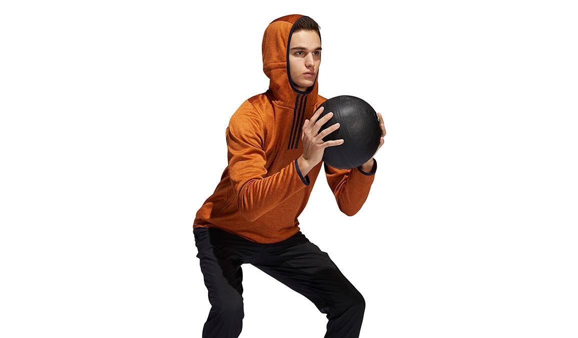 Men's Adidas FreeLift Climawarm 3-Stripes Hoodie - Color: Tech Copper Size: L, Copper, large, image 1