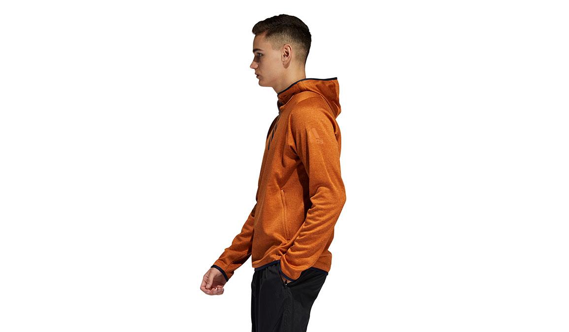 Men's Adidas FreeLift Climawarm 3-Stripes Hoodie - Color: Tech Copper Size: L, Copper, large, image 2