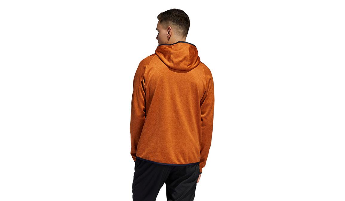 Men's Adidas FreeLift Climawarm 3-Stripes Hoodie - Color: Tech Copper Size: L, Copper, large, image 3