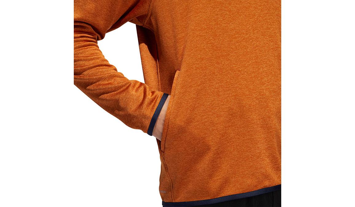 Men's Adidas FreeLift Climawarm 3-Stripes Hoodie - Color: Tech Copper Size: L, Copper, large, image 4