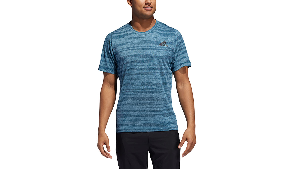 Men's Adidas FreeLift Tech Heather Tee - Color: Tech Mineral Size: S, Mineral, large, image 1