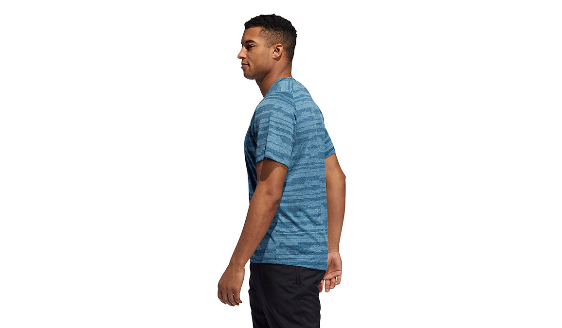 Men's Adidas FreeLift Tech Heather Tee - Color: Tech Mineral Size: S, Mineral, large, image 3