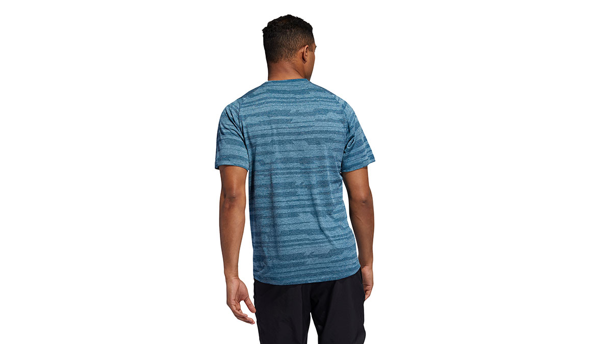 Men's Adidas FreeLift Tech Heather Tee - Color: Tech Mineral Size: S, Mineral, large, image 4