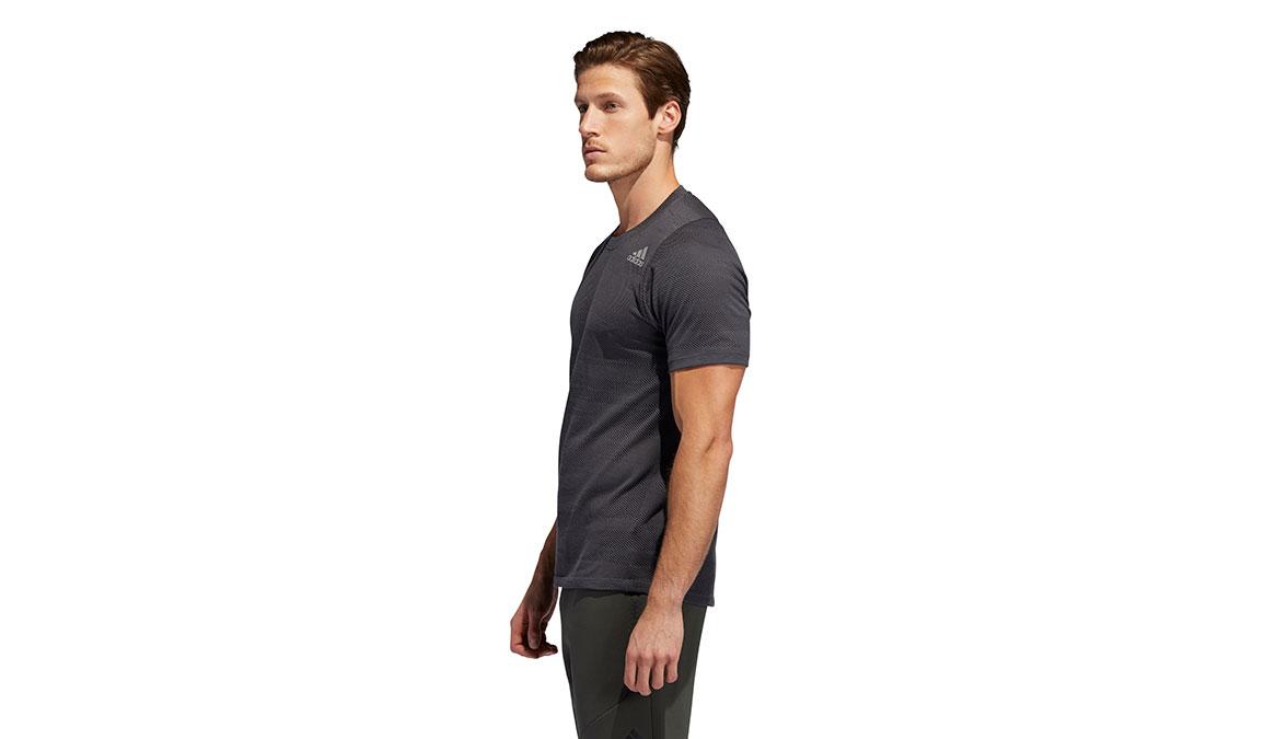 Men's Adidas FreeLift Winterized Jacquard Tee - Color: Grey/Black Size: S, Grey/Black, large, image 2