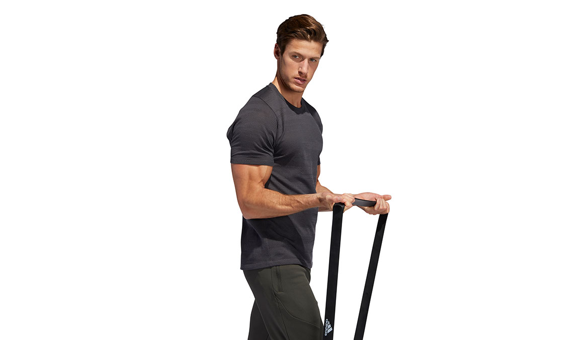 Men's Adidas FreeLift Winterized Jacquard Tee - Color: Grey/Black Size: S, Grey/Black, large, image 3