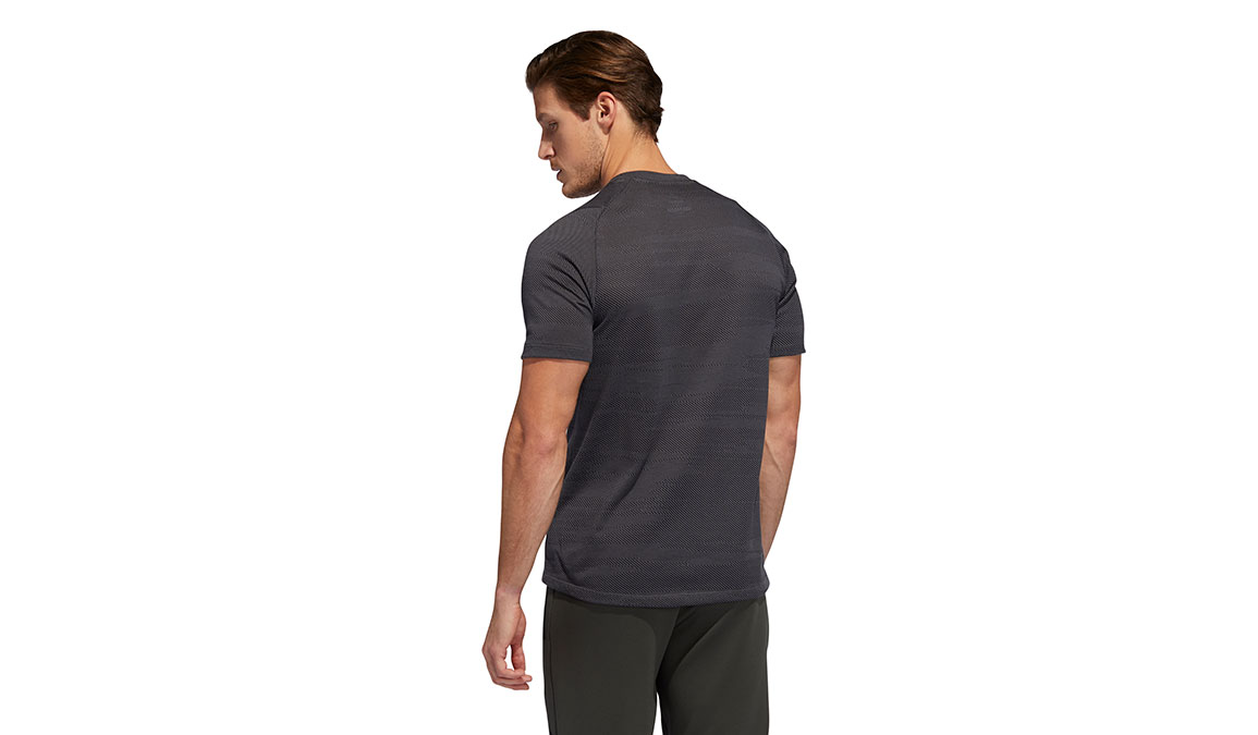 Men's Adidas FreeLift Winterized Jacquard Tee - Color: Grey/Black Size: S, Grey/Black, large, image 4