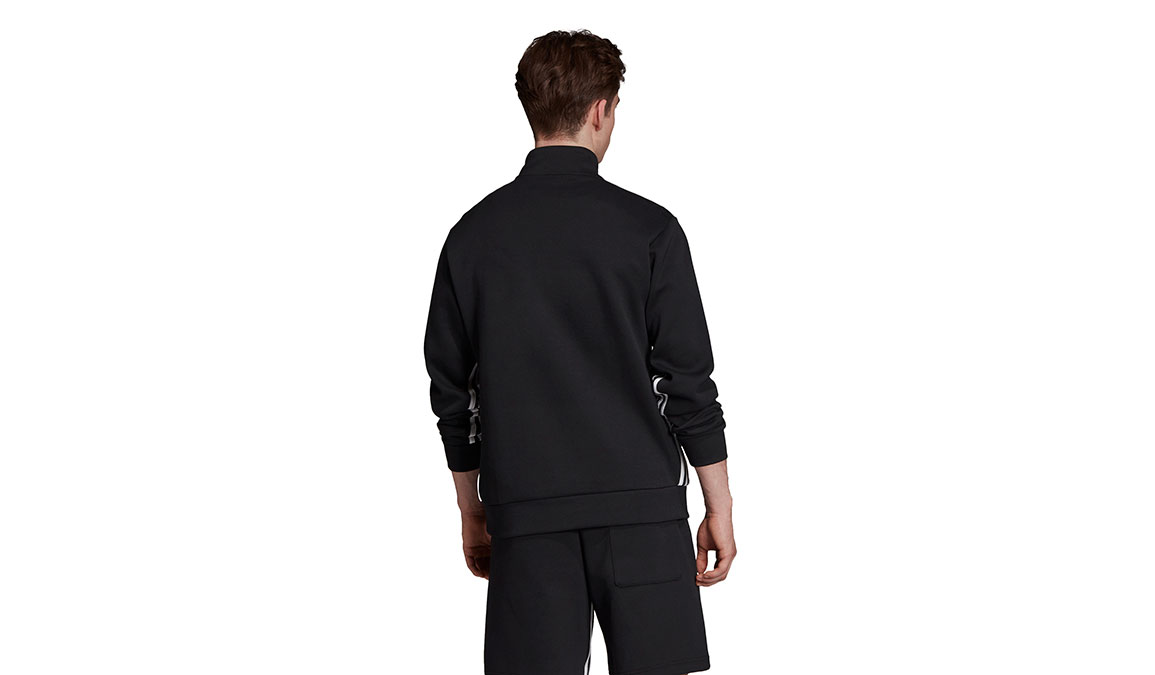 Men's Adidas Must Haves 3 Stripe 1/2 Zip - Color: Black/White Size: XS, Black/White, large, image 3