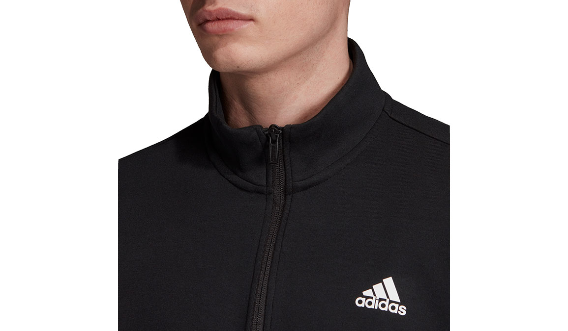 Men's Adidas Must Haves 3 Stripe 1/2 Zip - Color: Black/White Size: XS, Black/White, large, image 4
