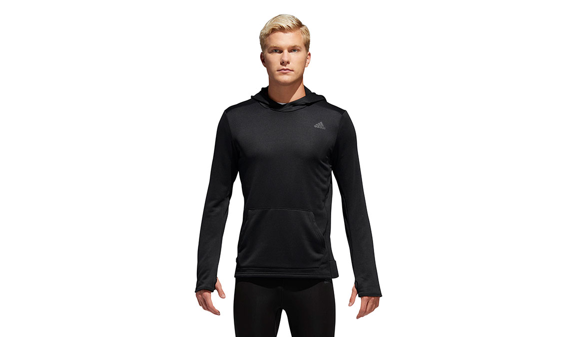 Men's Adidas Own The Run Hoodie - Color: Black Size: S, Black, large, image 1