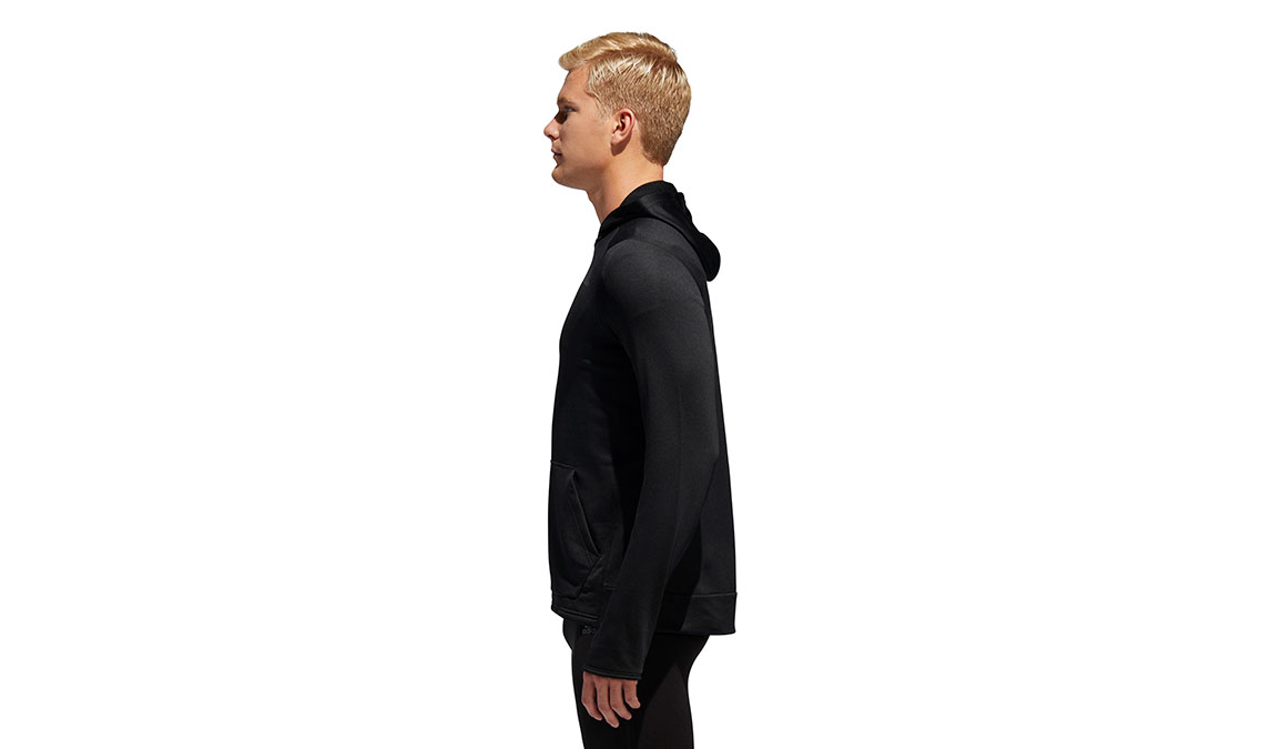 Men's Adidas Own The Run Hoodie - Color: Black Size: S, Black, large, image 2