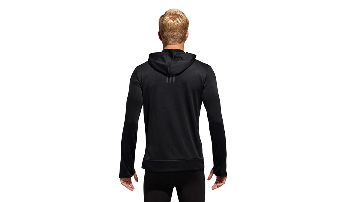 Men's Adidas Own The Run Hoodie - Color: Black Size: S, Black, large, image 3