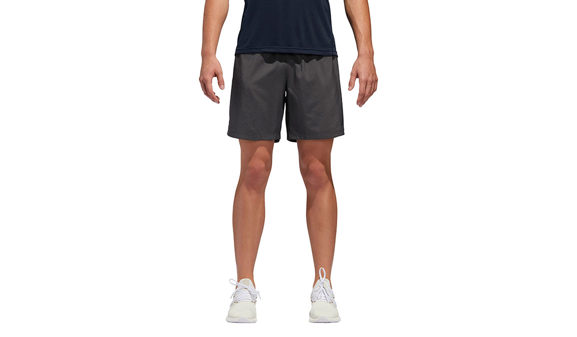 "Men's Adidas Own The Run Short 7""  - Color: Grey Size: M, Grey, large, image 1"