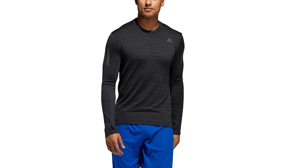 Men's Adidas Rise Up N Run Long Sleeve  - Color: Black Size: S, Black, large, image 1