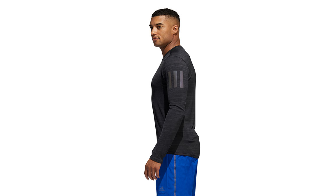 Men's Adidas Rise Up N Run Long Sleeve  - Color: Black Size: S, Black, large, image 3